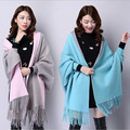 Mulheres Casacos de Lã capa 16 Cores 2016 Outono Inverno Casaco de Lã de Alta Qualidade Camisola de Malha Top aquecimento Moda Pano Senhora