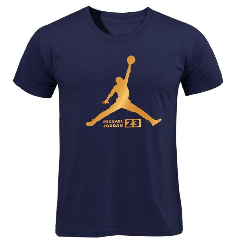 Hot Man's Jordan 23   T     Shirts   High Quality Cotton Men Fashion Printed 23 Hip-Hop Tee Camisetas Men Clothing Casual Top gift
