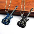 2016 Top Quality  Men's Women's Unisex Guitar Pendant Beaded Chain Sweater Necklace Fashion Jewelry  NY79 7FUG 7NW7