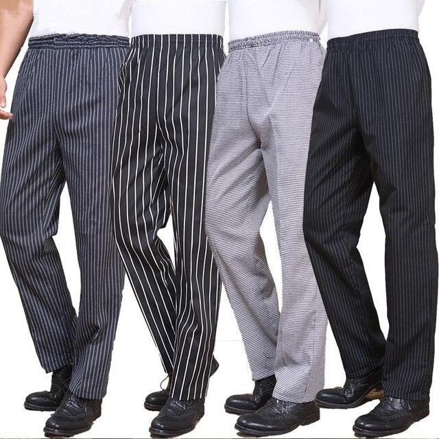 Nuevo restaurante chef uniforme para hombres Pantalones cocina
