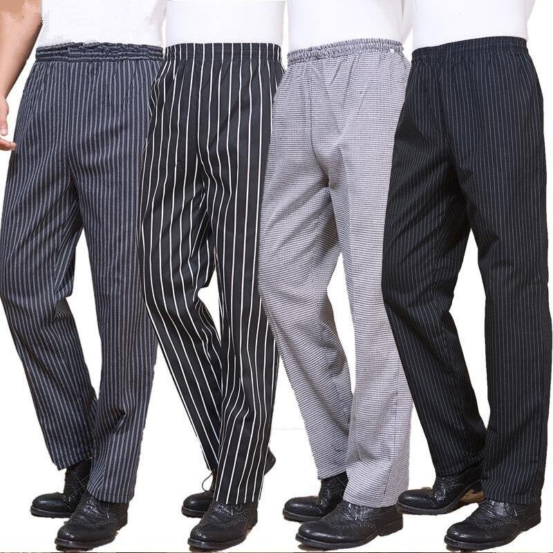 Terbaru Restoran Chef Seragam Untuk Pria Celana Celana Seragam Chef Dapur Untuk Man Celana Elastis Pinggang Bottoms Pakaian Kerja Chef Uniform Restaurant Chef Uniformsrestaurant Chefs Aliexpress