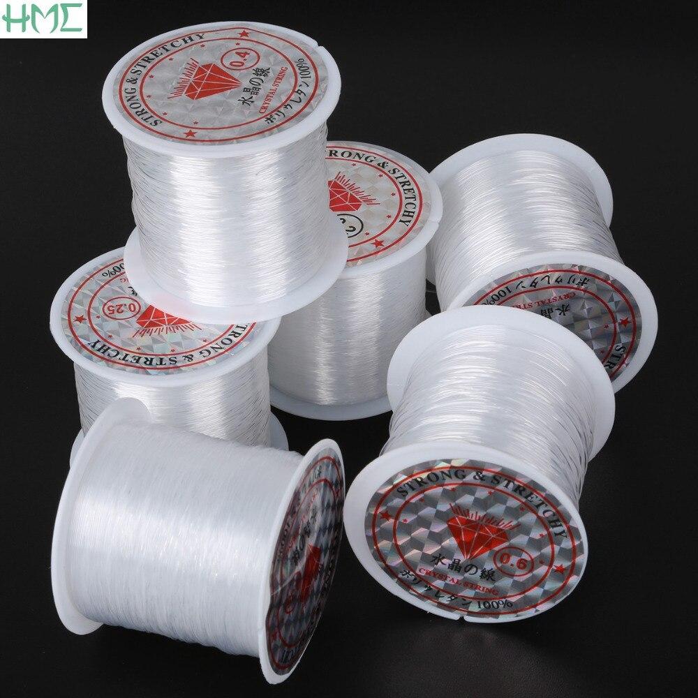 0,2 мм/0,25 мм/0,3 мм/0,35 мм/0,4 мм/0,45 мм/0,5 мм/0,6 мм диаметр, не стрейч рыба линия провода нейлон шнур для бисероплетения нити для ювелирных изделий