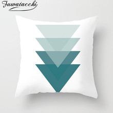 Fuwatacchi Nordic Style Painting Cushion Cover Geometric Flower Throw Pillows Cover Decor Home Sofa Decorative Pillows Case fuwatacchi snowman cushion cover christmas day gift decorative pillows cover for home sofa polyester throw pillowcases 45 45cm