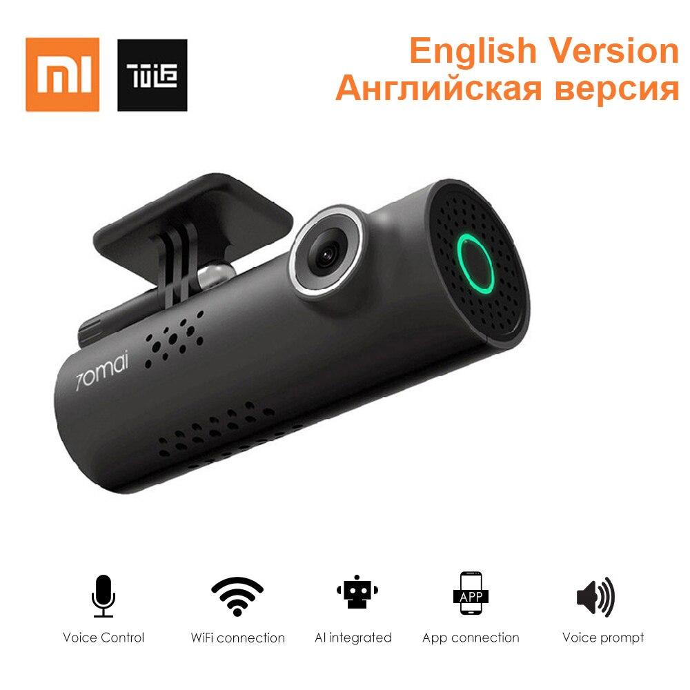 Xiaomi 70Mai Smart WiFi dvr de voiture 130 Degrés voiture sans fil Dash Cam 1080 P Full HD Nuit Version G-Capteur enregistreur de conduite anglais