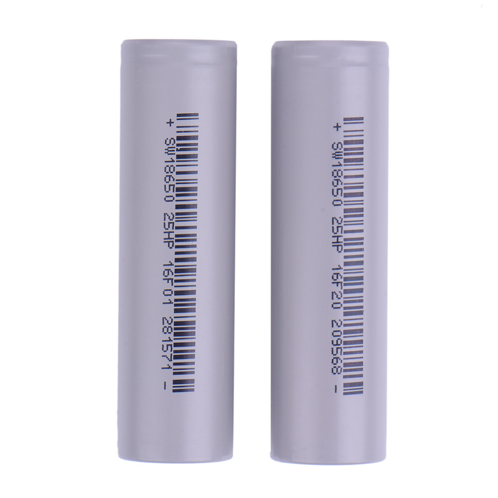 2 Pcs Li Traction Charger 18650 3 7V Rechargeable battery 2500 mAh high drain Power battery