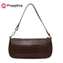 2019 New Retro Alligator Pattern Women Messenger Flap Handbags PU Leather Street