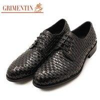 GRI/мужские модные итальянские модельные туфли; Плетеный Круглый носок; мужские деловые свадебные туфли на плоской подошве; Размеры 6 10; OX939