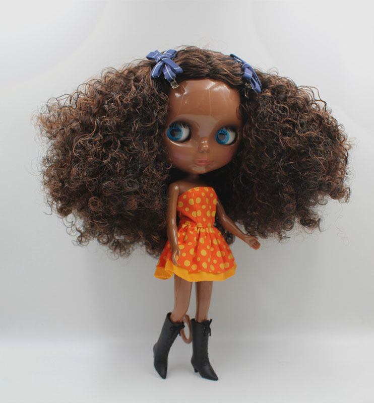 Free Shipping big discount RBL-435 DIY Nude Blyth doll birthday gift for girl 4colour big eye doll with beautiful Hair cute toy free shipping big discount rbl 288diy nude blyth doll birthday gift for girl 4colour big eyes dolls with beautiful hair cute toy