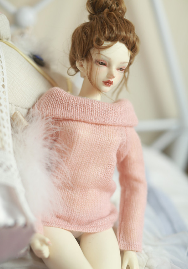 1/3 1/4 BJD Boat Neck Sweaters Warm For 1/3 1/4 BJD DD SD Doll Accessories Doll Clothes Strapless Collar Sweater