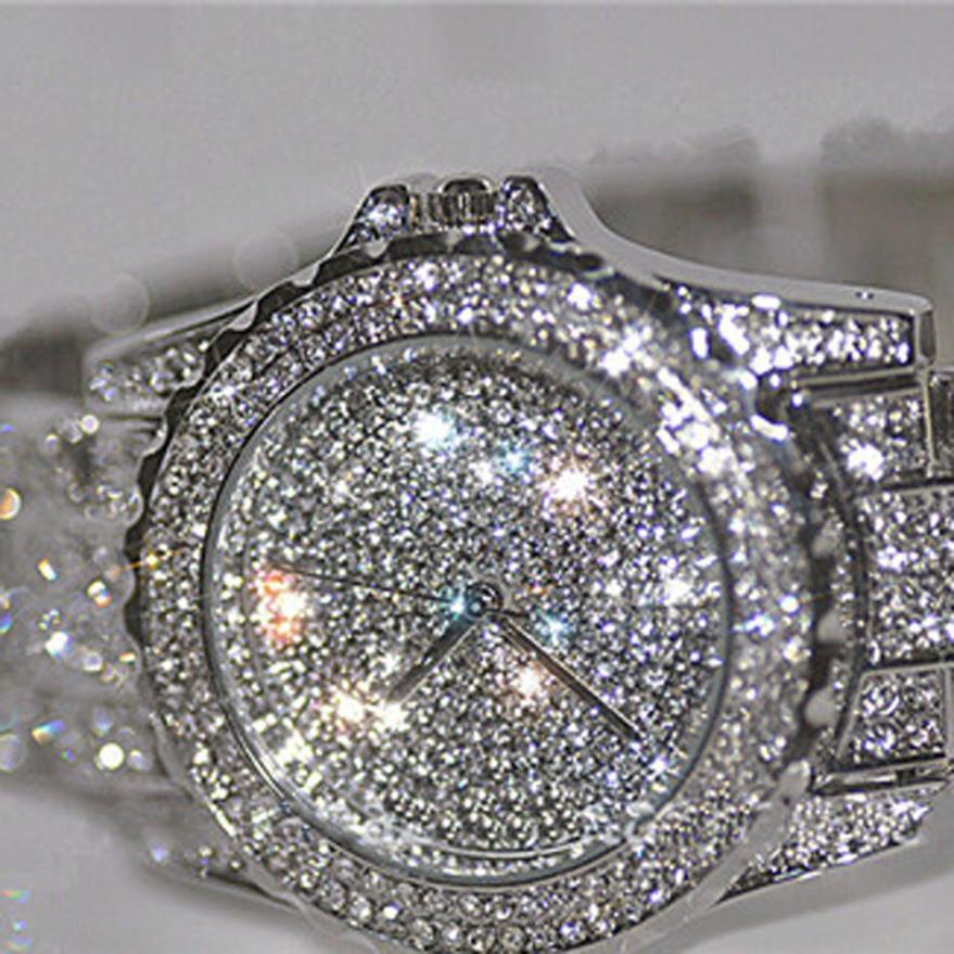Mode Lyxiga kvinnor klockar rhinestone keramiska kristaller Quartz klockor Lady Dress Watch High Quality Dropshipping A27