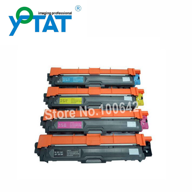 Color toner cartridge TN221 TN241 TN251 TN261 TN281 TN291 for Brother HL-3140CW/3150CDW/3170CDW MFC9130CW/9140CDN/9330CDW refillable color ink jet cartridge for brother printers dcp j125 mfc j265w 100ml