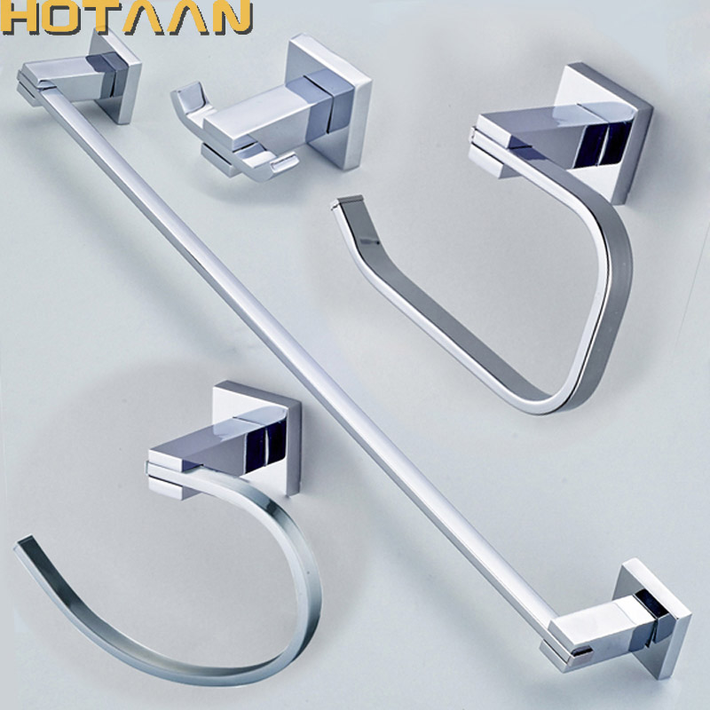 Free shipping,304# Stainless Steel Bathroom Accessories Set,Robe hook,Paper Holder,Towel Bar,Towel ring,bathroom sets,YT-11300-A