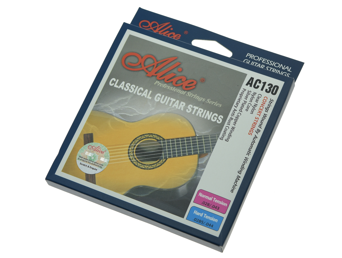 Alice Clear Nylon Classical Guitar String Normal Tension Silver Plated Copper Wound Guitar Strings