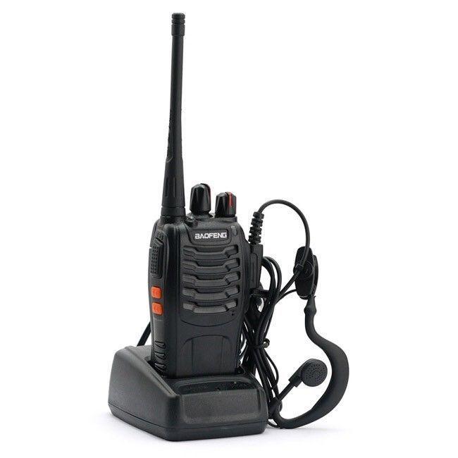 Baofeng BF-888S 16CH 5W Walkie Talkie Interphone UHF 400-470MHz Two-way Radio+earpiece -russia Moscow stock
