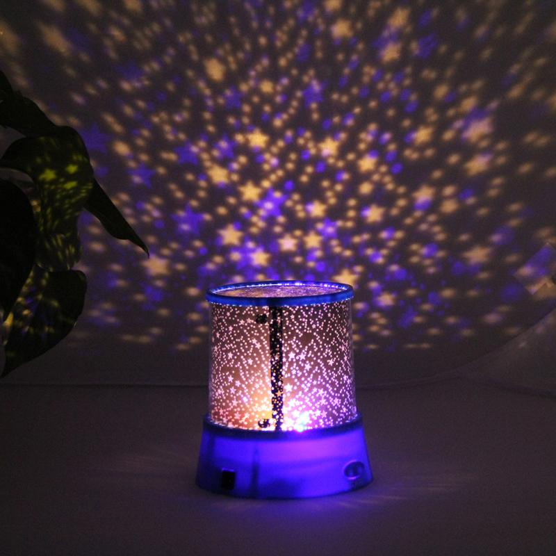 Romantic LED Projector Stage Light Flashing Lamp Sky Night Light Starry Star Projector Party Wedding Supplies Christmas Decor