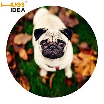 HUGSIDEA-Alfombra antideslizante para perros y mascotas, tapetes de puerta redonda, alfombras para...