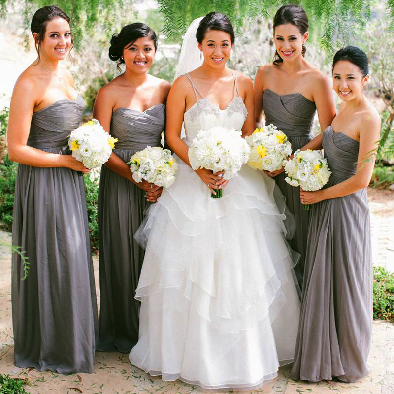 Modern Country Chic Wedding Dress : Wholesale grey bridesmaid dresses from china