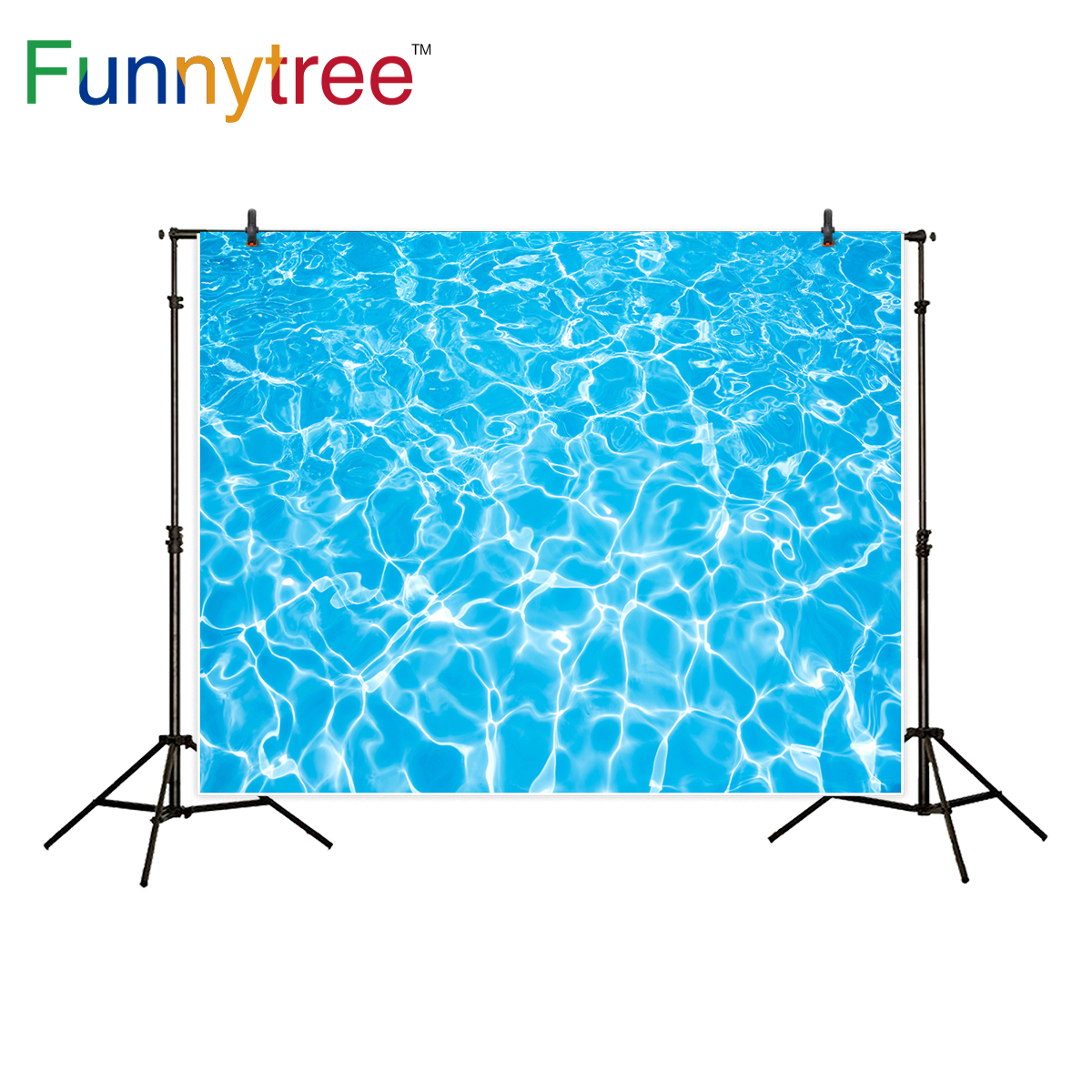 Funnytree background for photo studio swimming pool summer cool baby shower blue backdrop photography photobooth photo prop