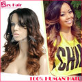Wavy Human Hair Full Lace Wigs 7A Baby Hair Remy Human Hair Lace Front Wigs Human Hair Two Tone Stocked #1b/#6 Lace Front Wigs