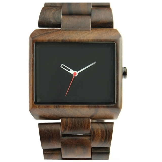 High Quality Mens Square Face Watches Business Wristwatch 2017 Full