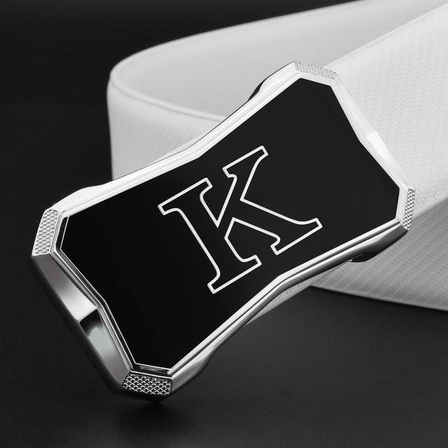 Off white черный пояс K Роскошные Металлические пряжки гладкой пряжкой высокое качество дизайнер натуральная кожа ремень для мужчин 2018 Мода