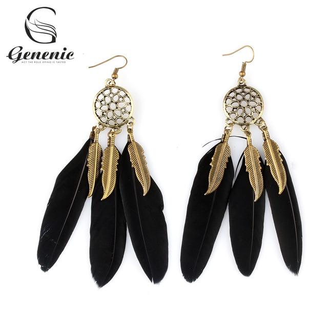 dbd05cf4c3e35 1 Pair Fashion Women Bohemian Style Vintage Retro Dream Catcher Feather  Earring Long Ear Drop Earrings-in Drop Earrings from Jewelry & Accessories  on ...