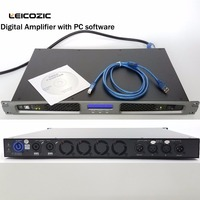 Leicozic Professional amplifiers with dsp digital ampifier 1U rack mount Power Amp Pro Audio, Touring, Concert,Stage PC Control