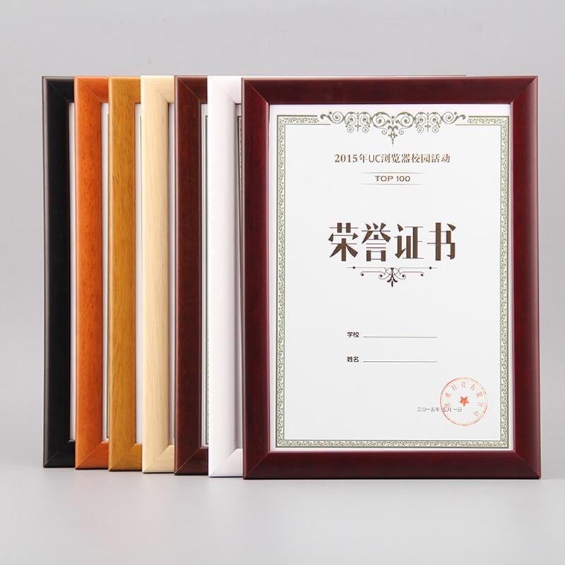 montado en la pared y encimera de madera maciza de madera marcos certficate de diploma