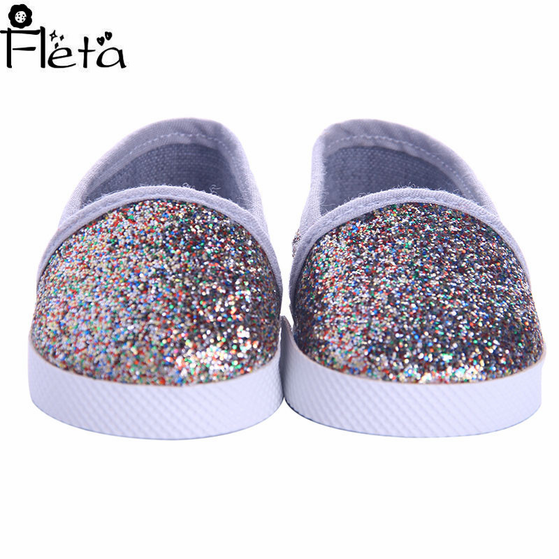 Fleta Doll's American Women's Doll-Friendly Glossy Loafers for 18-inch American Dolls for Kids' Best Gifts image