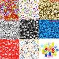 """Hot 6mm 100 pcs Alphabet """"AZ"""" Cubic Beads Carta Acrílico Espaçador Talão Pulseira Banda Tear Descobertas Jóias DIY Fazendo"""
