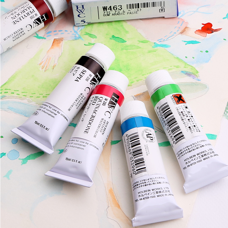 Japan's Holbein Hype Watercolor Pigment Set A Series (1) Hwc 15ml Single Branch lab series 15ml