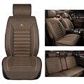 Cubierta de asiento de coche de lino Para Renault Koleos Kadjar Captur Koloes Kangoo Megane 2 3 Plumero Logan accesorios car styling