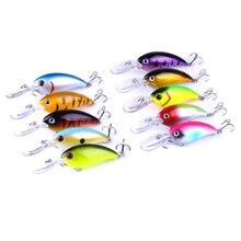 500pcs Crankbait Wobblers Hard Fishing Tackle Crank Bass Bait Lures 14g 10cm 10 Colors
