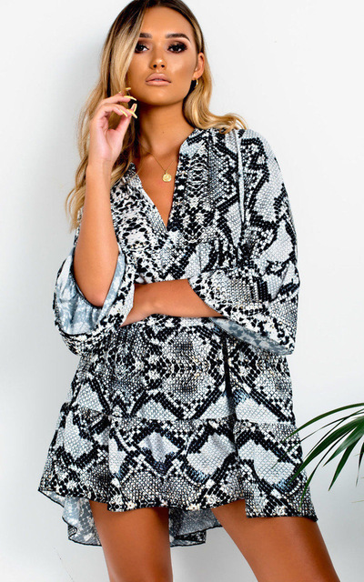 89e5b2d5f7faf6 ... vrouwen snake jurken vrouwelijke winter kleding. 2019 New High Quality  Feminina Dress England Style Leopard Print Women Dress Snake Print Women  Dresses