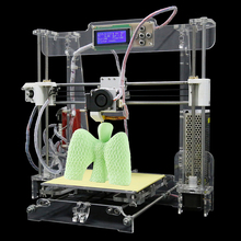 More Material Upgraded Quality High Precision Reprap Prusa i3 DIY 3d Printer kit with Filament 8GB SD card and LCD Free