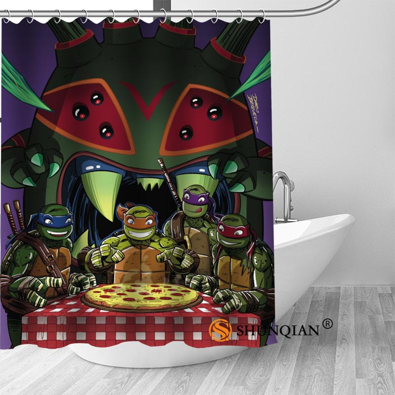 Teenage Mutant Ninja Turtles Shower Curtain Bathroom Decorations For Home Waterproof Fabric Bath A1813 In Curtains From