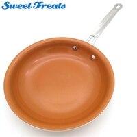 Sweettreats غير عصا طلاء النحاس مقلاة مع السيراميك و تحريض الطبخ وفرن و غسالة صحون آمنة