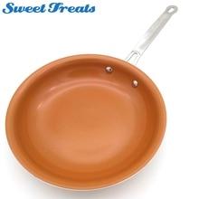 Подметальная Сковорода Из антипригарной меди с керамическим покрытием и индукционной готовкой, духовкой и посудомоечной машиной