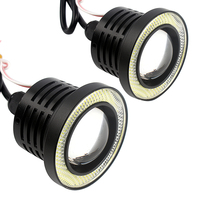 LED COB Lights 2PCs Lot Car Fog Lamps Universal DRL Daytime Running Lights Black Car Styling