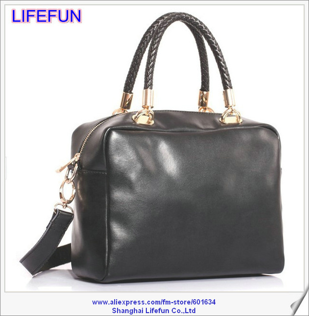 2014 new fashion women GENUINE REAL LEATHER  Shoulder Messenger bag tote bag handbag patent LF06444