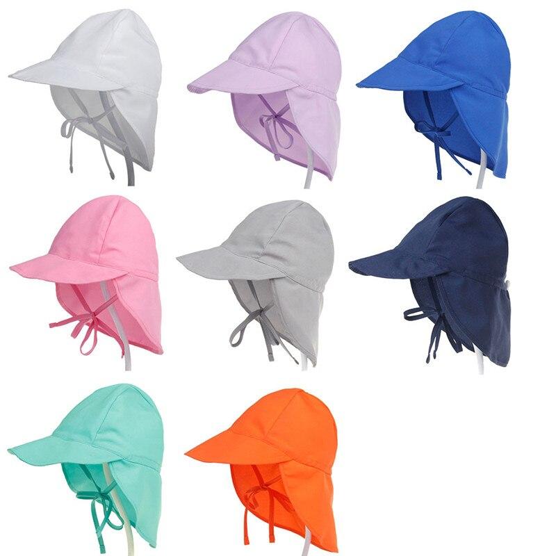 XDOMI New Kid's UPF 50+ UV Sun Hat Neck Ear Cover Flap Cap for Girls /Boys Summer Breathable Beach Hat Adjustable Swimming cap