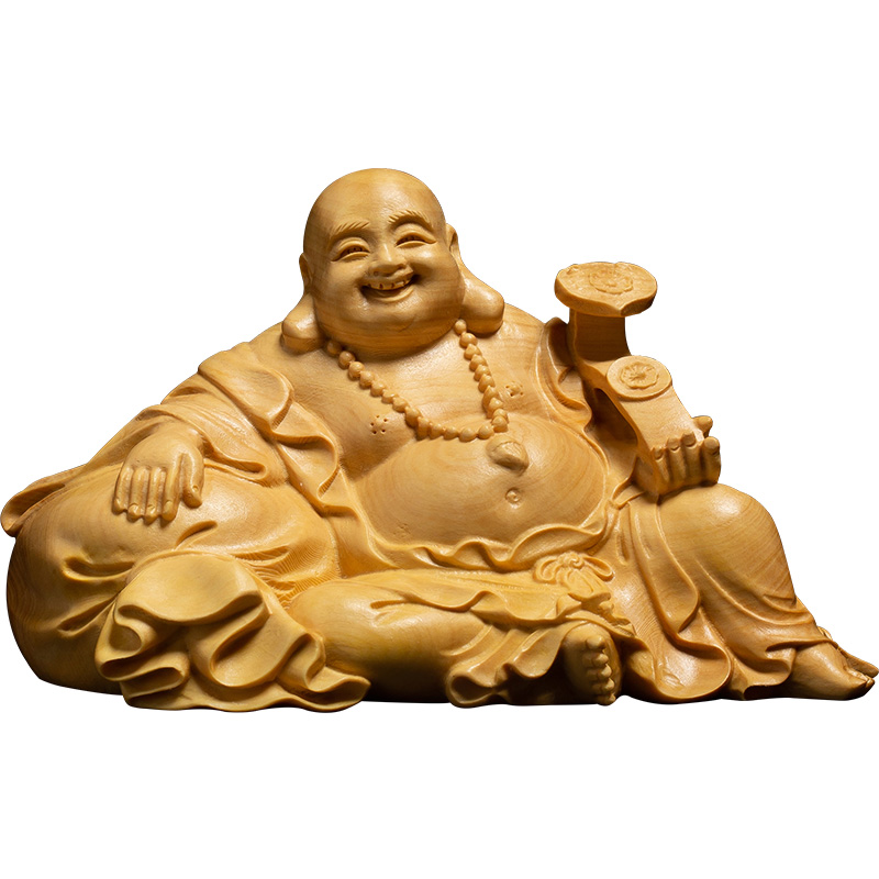 Laugh buddha statue buddha car accessories buddhism Fengshui Maitreya carving Miniature home decors
