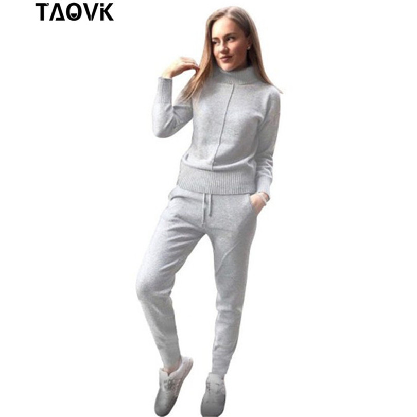 TAOVK Winter Woolen and Cashmere Knitted Warm Suit High Collar Sweater  Mink Cashmere Pants Loose Style Two piece Set Knit-in Womens Sets from Womens Clothing on Aliexpresscom  Alibaba Group
