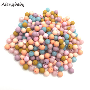 Image 3 - 100pc Silicone Baby Teething Beads 15mm Safe Food Grade Care Chew Round BPA Free Silicone Beads Teether Nursing Necklace