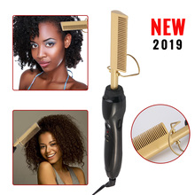 Electric Comb Straightener wand Hair Curling Irons Hot Straightening Electric Comb Titanium Alloy ha