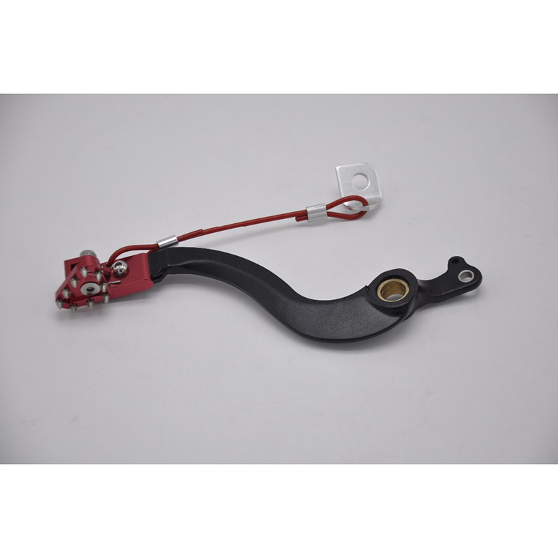 CNC aluminum rear Brake Pedal arm lever with brake saver for honda crf250r crf 250r fit 04-16 dirtbike motorcycle motocross cnc dirt bike offroad motorcycle brake clevis rod joint for honda crf 250r crf250x crf 450 crf450