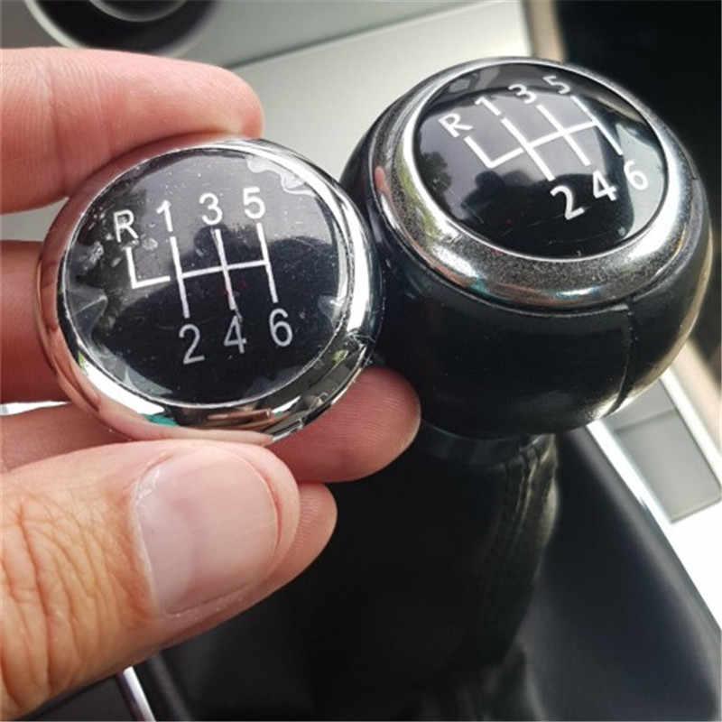 Carlob 5 / 6 Speed Pookknop Stok Badge Embleem Trim Cap Cover Voor Volkswagen Vw Passat B6 2005-2011 Auto Styling Accessoires