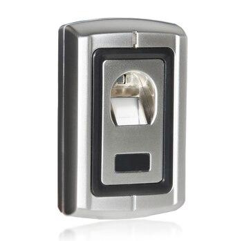 DIYSECUR Uzaktan Kumanda Parmak Izi 125 KHz RFID ID kart okuyucu Iki Kapı Kilidi Erişim Kontrol Kiti F007EM-II