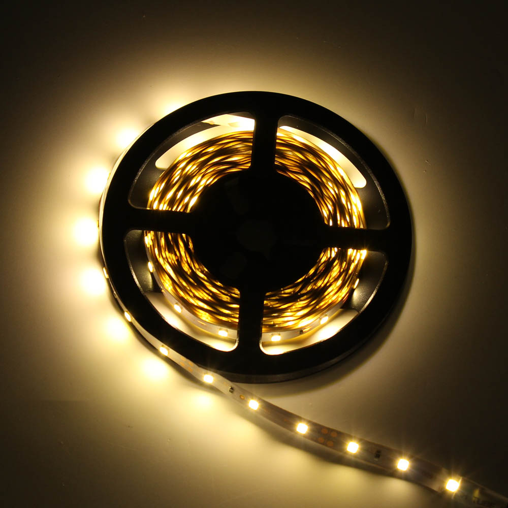 LED Strip 5M 16.5ft SMD 2835 300leds Garland Light Flexible Non Waterproof RGB Gaskets DC 12V For Home Christmas Party Wire Tape