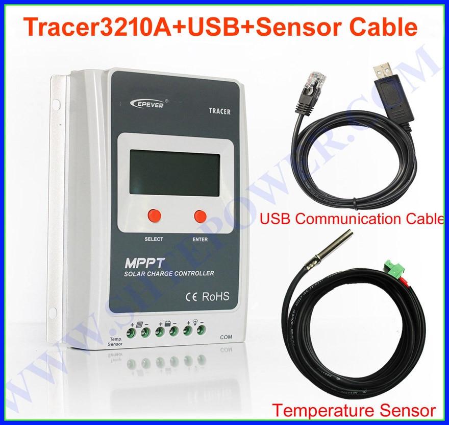EPEVER 30amp mppt solar charge controller 12v/24v 30a,tracer3210 solar controller 100v